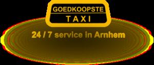 logo goedkoopste taxi arnhem
